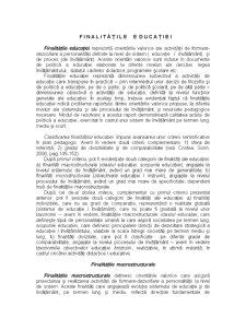 Finalitățile Educației - Pagina 1