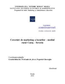 Cercetari de Marketing a Locurilor - Mediul Rural Caras - Severin - Pagina 2
