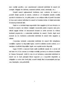 Incheierea si Executarea Contractului Individual de Munca - Pagina 3