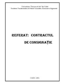 Contractul de Consignație - Pagina 1