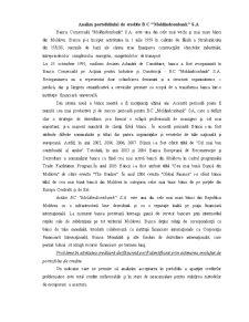 Analiza Portofoliului de Credite MoldindConBank - Pagina 1