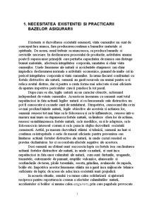Conceptul de Asigurare si Functiile Acesteia - Pagina 1