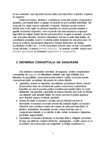 Conceptul de Asigurare si Functiile Acesteia - Pagina 2