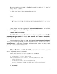 Dreptul Familiei si Elemente de Stare Civila - Pagina 1