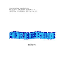 Proiect TSD - Proiectarea unei Retele - Pagina 1