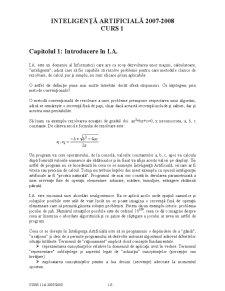 Inteligență Artificială - Pagina 1