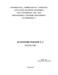 Economie Politică - Pagina 1