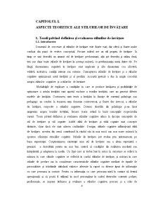 Tipul Preferential Senzorial si Cerebral in Procesul de Predare - Pagina 4