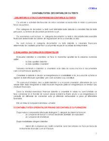 Contabilitatea Decontarilor cu Tertii - Pagina 1