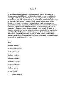 Programare Orientata pe Obiecte - Pagina 1