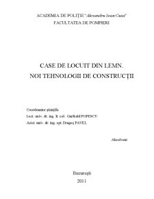 Case de Locuit din Lemn - Noi Tehnologii de Constructii - Pagina 1