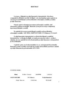 Bilantul si Pozitia Financiara a Intreprinderii - Abordarea Comparativa a Diferitelor Modele de Bilant - Pagina 4