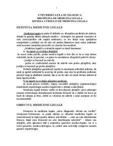 Medicina Legala - Pagina 1