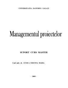 Managementul Proiectelor - Pagina 1