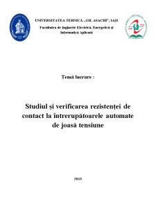 Studiul și verificarea rezistenței de contact la întrerupătoarele automate de joasă tensiune - Pagina 4
