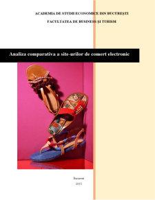 Analiza comparativa a site-urilor de comert electronic - Pagina 1
