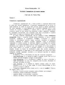 Comunicare și Resurse Umane - Pagina 1