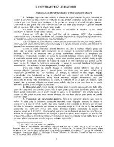 Contractele aleatorii (dupa noul cod civil) - Pagina 1