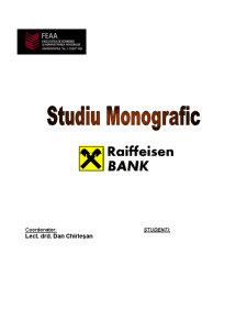 Monografie Bancara - Raiffeisen Bank - Pagina 1