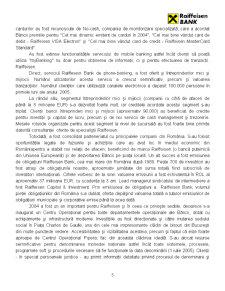 Monografie Bancara - Raiffeisen Bank - Pagina 5