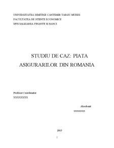 Studiu de caz piata asigurarilor din Romania - Pagina 2