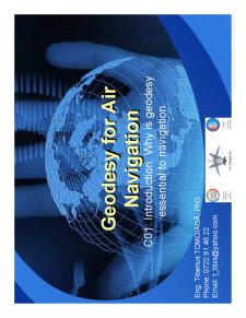 Geomaticsfor Air Navigation - Pagina 1