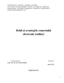 Rolul si avantajele comertului electronic (online) - Pagina 1