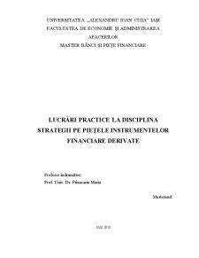 Lucrări practice la disciplina strategii pe piețele instrumentelor financiare derivate - Pagina 1