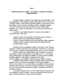 Notiuni Generale de Ecologie Curs 1 - Pagina 1
