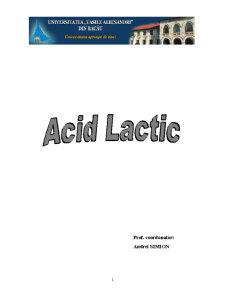 Acid lactic - Pagina 1