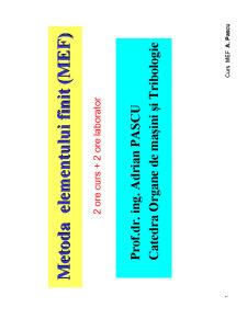Metoda Elementului Finit - Pagina 1