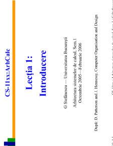 Arhitectura Sistemelor de Calcul - Pagina 1