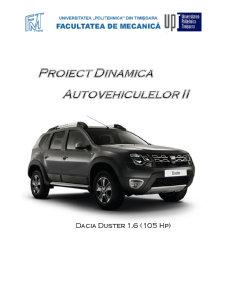 Dinamica autovehiculelor 2 - Dacia Duster 1.6 105 HP - Pagina 1