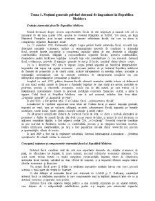 Noțiuni generale privind sistemul de impozitare în Republica Moldova - Pagina 1