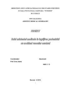 Rolul asistentei medicale în îngrijirea bolnavilor cu accident vascular cerebral - Pagina 1
