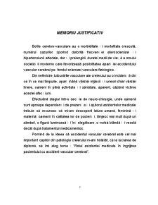 Rolul asistentei medicale în îngrijirea bolnavilor cu accident vascular cerebral - Pagina 2