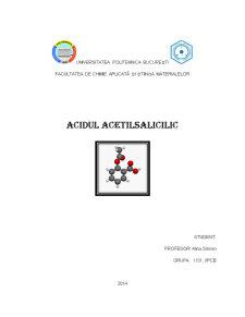 Acidul acetilsalicilic - Pagina 1