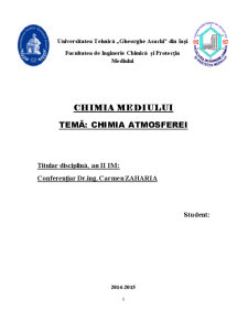 Chimia atmosferei - Pagina 1