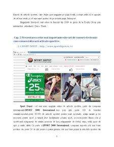 Analiza comparativă a site-urilor de comerț electronic existente pe piața articolelor sportive - Pagina 5