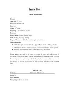 Lesson plan - Pagina 1