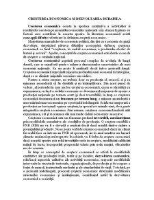 Cresterea economica si dezvoltarea durabila - Pagina 1