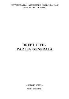Drept civil partea generala - Pagina 1
