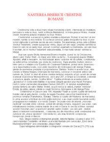 Nasterea Bisericii Crestine Romane - Pagina 1