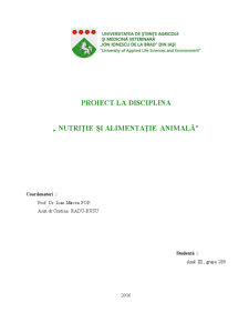 Nutriție și alimentație animală - Pagina 1
