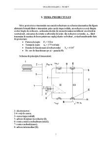 Proiectarea unei Transmisii Mecanice Reductoare cu Schema Cinematica - Pagina 2