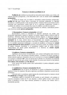 Formarea si alcatuirea profilului de sol - Pagina 1