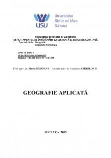 Geografie aplicată - Pagina 1