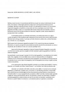 Geografia ca știință - Pagina 1