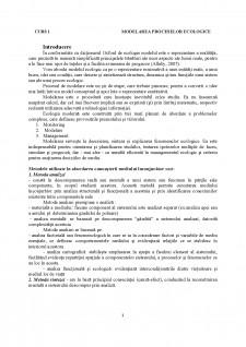 Modelarea proceselor ecologice - Pagina 1