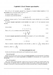 Calcul numeric - Pagina 1